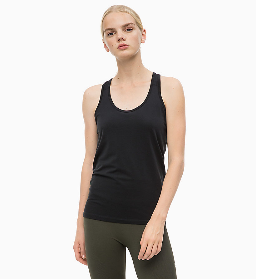 CALVINKLEIN Logo Tank Top - FOREST NIGHT - CALVIN KLEIN PERFORMANCE - main image