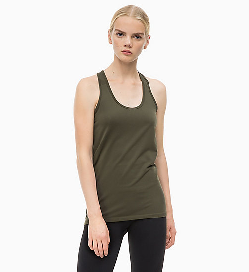 CALVINKLEIN Logo Tank Top - FOREST NIGHT - CALVIN KLEIN SPORT - main image