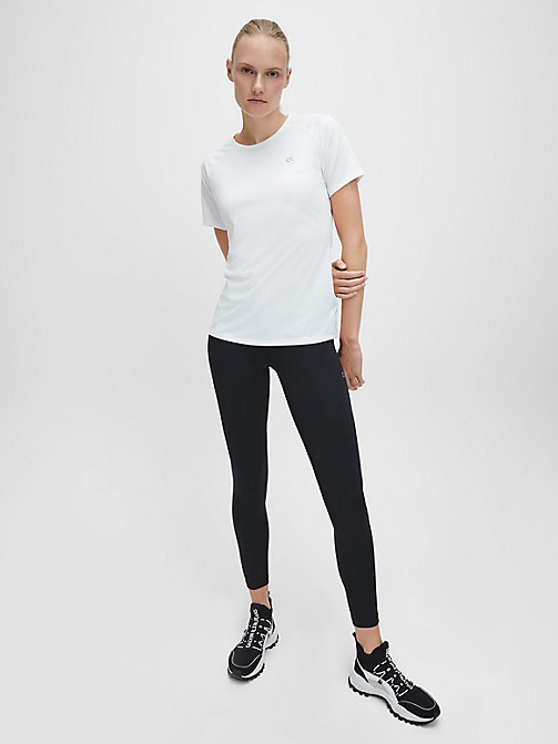 CALVINKLEIN Mesh Panel T-shirt - BRIGHT WHITE - CALVIN KLEIN T-SHIRTS & TANK TOPS - detail image 1