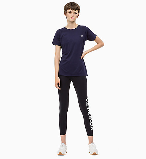 CALVIN KLEIN Mesh Panel T-shirt - EVENING BLUE - CALVIN KLEIN SPORT - detail image 1