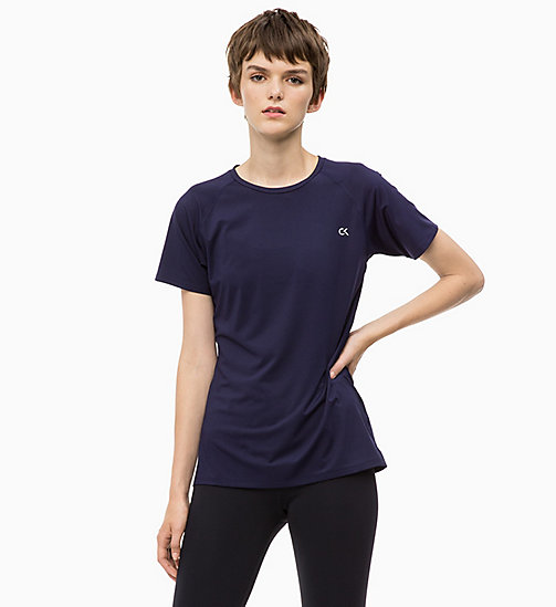 CALVINKLEIN Mesh Panel T-shirt - EVENING BLUE - CALVIN KLEIN T-SHIRTS & TANK TOPS - main image