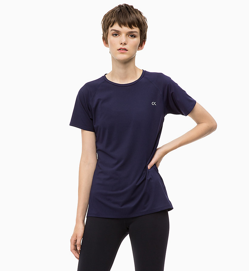 CALVIN KLEIN Mesh Panel T-shirt - CK BLACK - CALVIN KLEIN PERFORMANCE - main image