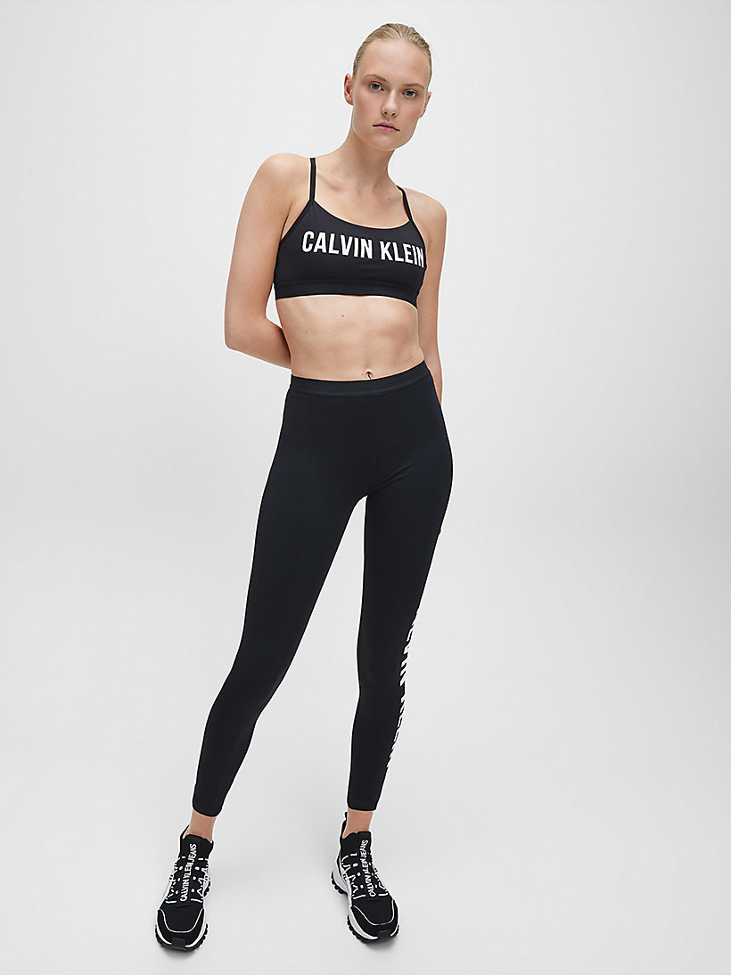 CALVINKLEIN Low Impact Strappy Sports Bra - BRIGHT WHITE - CALVIN KLEIN PERFORMANCE - detail image 1