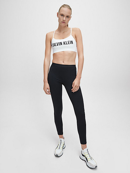 CALVINKLEIN Low Impact Strappy Sports Bra - BRIGHT WHITE - CALVIN KLEIN SPORT - detail image 1