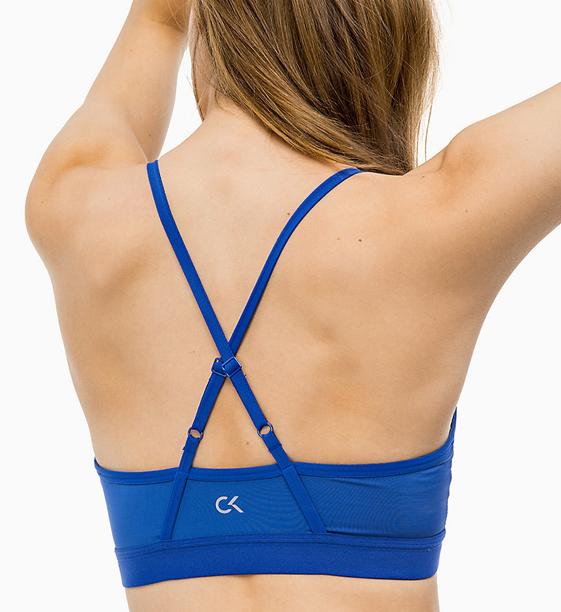 CALVINKLEIN Low Impact Strappy Sports Bra - BRIGHT WHITE - CALVIN KLEIN PERFORMANCE - detail image 2