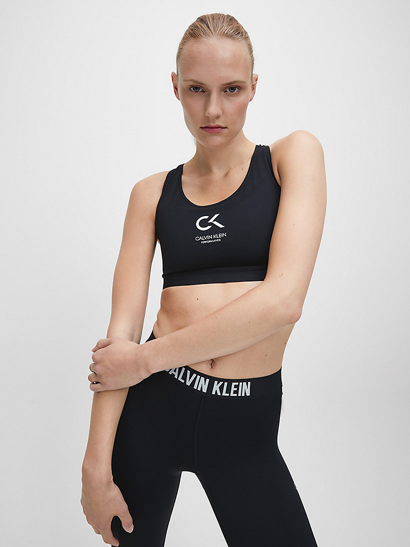 CALVIN KLEIN High Impact Racerback Sports Bra - BRIGHT WHITE - CALVIN KLEIN PERFORMANCE - detail image 2