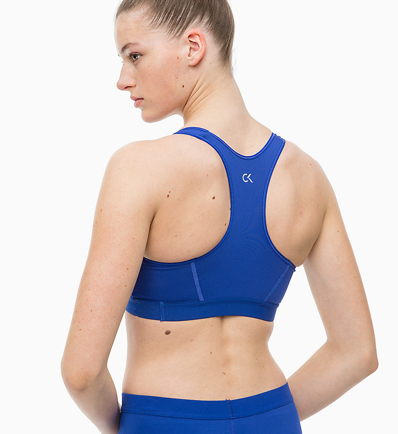 CALVINKLEIN High Impact Racerback Sports Bra - CK BLACK - CALVIN KLEIN PERFORMANCE - detail image 2