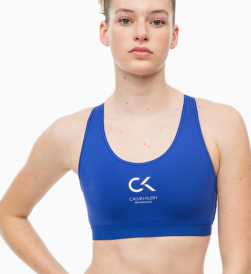 CALVINKLEIN High Impact Racerback Sports Bra - CK BLACK - CALVIN KLEIN PERFORMANCE - detail image 3