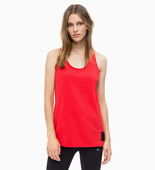 CALVIN KLEIN Tank Top - RACING RED - CALVIN KLEIN SPORT - main image