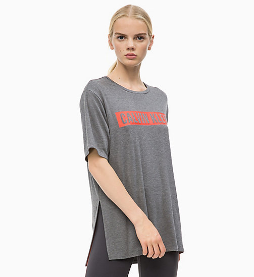 CALVIN KLEIN T-shirt met logo - MEDIUM GREY HEATHER - CALVIN KLEIN SPORT - main image