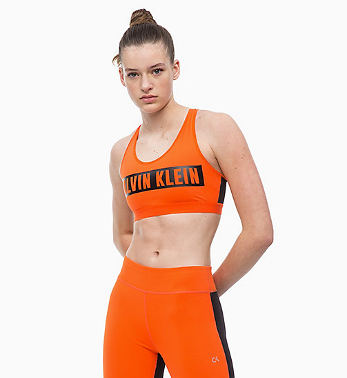 CALVINKLEIN Complete ondersteuning racerback sportbh - CHERRY TOMATO - CALVIN KLEIN SPORT - main image