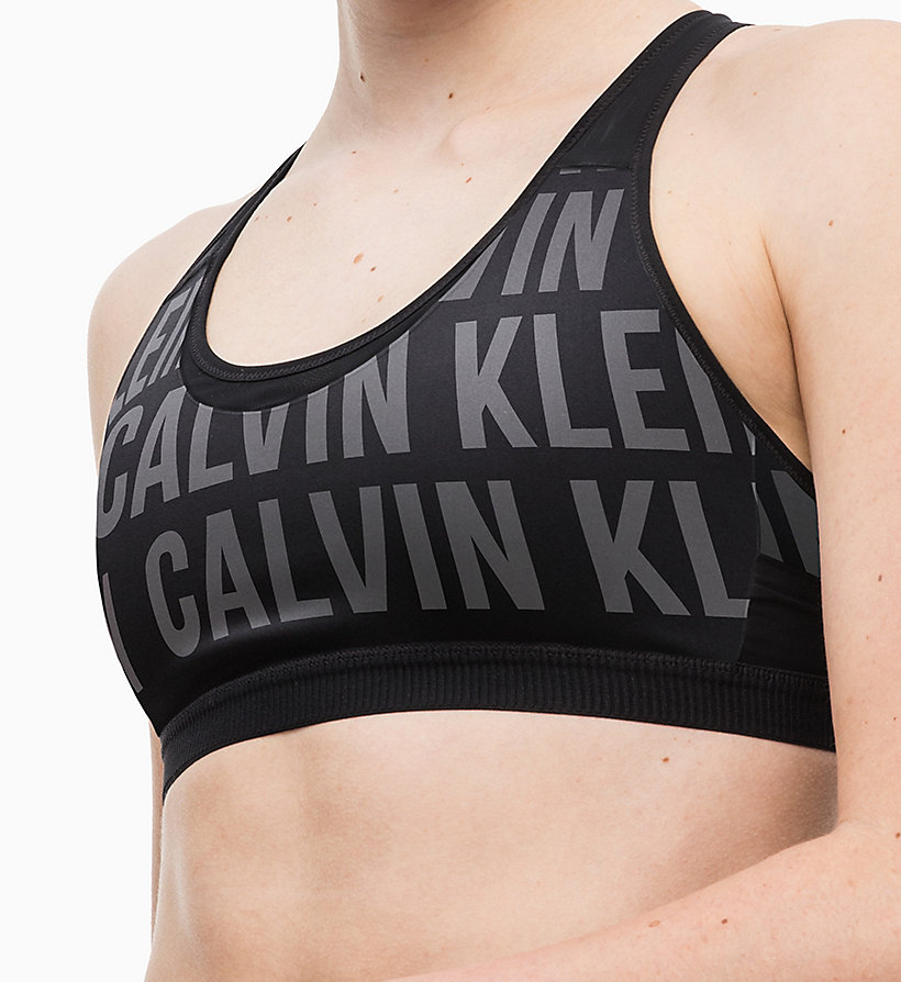 CALVINKLEIN Medium Impact Reversible Racerback Sports Bra - BOLD CK_RACING RED - CALVIN KLEIN PERFORMANCE - detail image 2