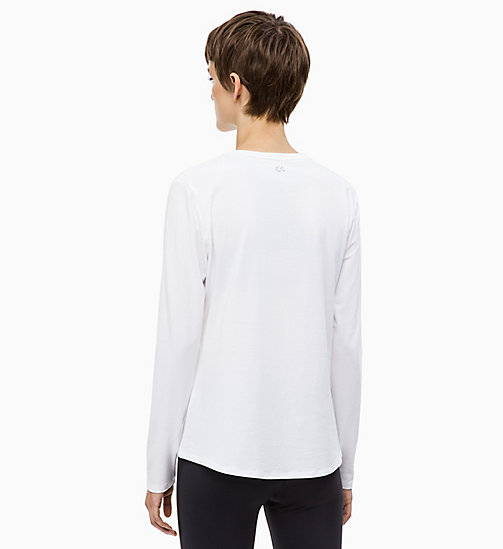 CALVINKLEIN Long Sleeve Logo Top - BRIGHT WHITE - CALVIN KLEIN SPORT - detail image 1