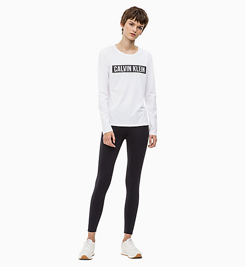 CALVIN KLEIN Long Sleeve Logo Top - BRIGHT WHITE - CALVIN KLEIN SPORT - detail image 1