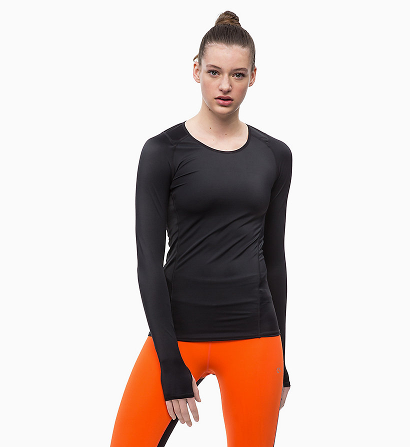 CALVINKLEIN Compression Long Sleeve Top - GUNMETAL - CALVIN KLEIN PERFORMANCE - main image