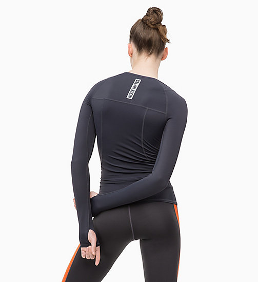 CALVINKLEIN Compression Long Sleeve Top - GUNMETAL - CALVIN KLEIN SPORT - detail image 1