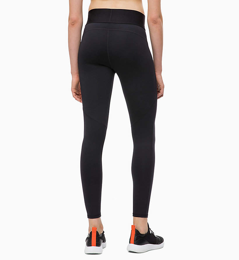 CALVIN KLEIN Sports Leggings - GUNMETAL - CALVIN KLEIN PERFORMANCE - detail image 1