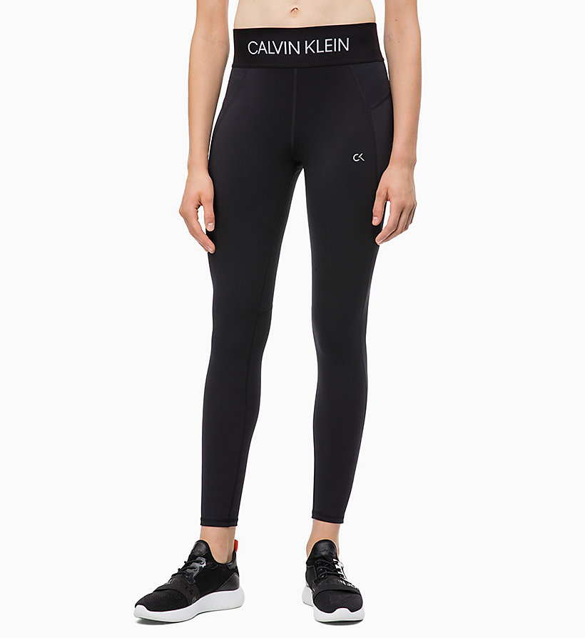 CALVIN KLEIN Sports Leggings - GUNMETAL - CALVIN KLEIN PERFORMANCE - main image