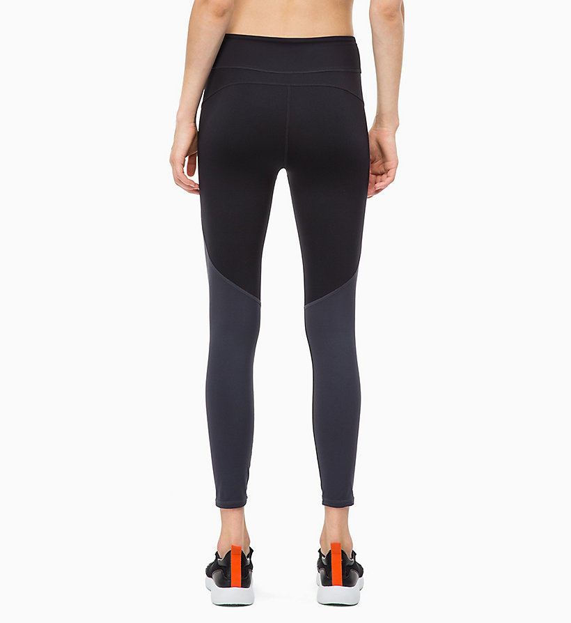 CALVIN KLEIN Cropped Sports Leggings - GUNMETAL - CALVIN KLEIN PERFORMANCE - detail image 1