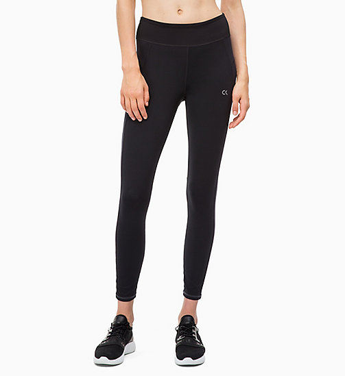 CALVIN KLEIN Cropped Sports Leggings - CK BLACK - CALVIN KLEIN SPORT - main image