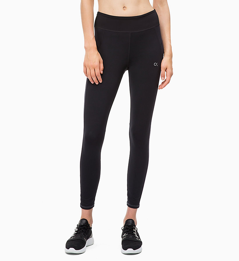 CALVIN KLEIN Cropped Sports Leggings - GUNMETAL - CALVIN KLEIN PERFORMANCE - main image