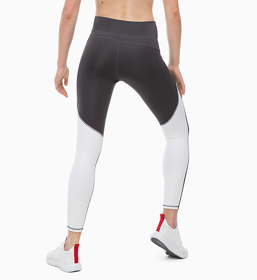 CALVIN KLEIN Cropped Sports Leggings - CK BLACK/SAMBA - CALVIN KLEIN PERFORMANCE - detail image 1