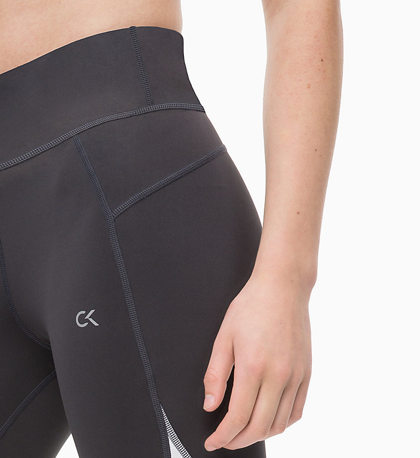 CALVIN KLEIN Cropped Sports Leggings - CK BLACK/SAMBA - CALVIN KLEIN PERFORMANCE - detail image 2