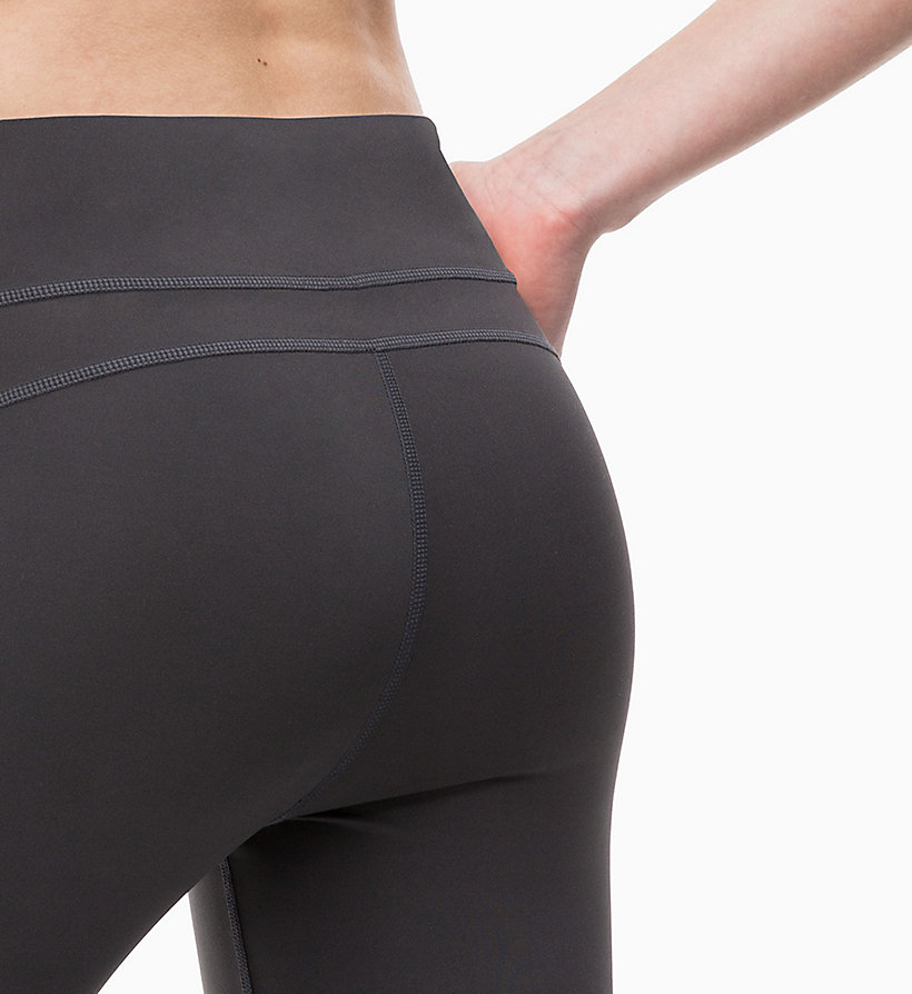CALVIN KLEIN Cropped Sports Leggings - CK BLACK/SAMBA - CALVIN KLEIN PERFORMANCE - detail image 3