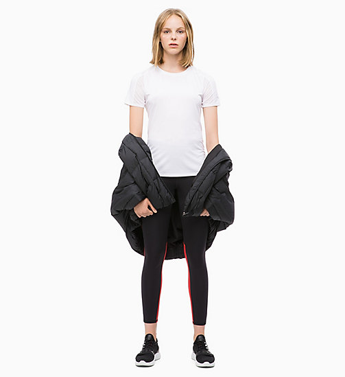 CALVIN KLEIN Cropped Sports Leggings - CK BLACK/SAMBA - CALVIN KLEIN NEW INS - detail image 1