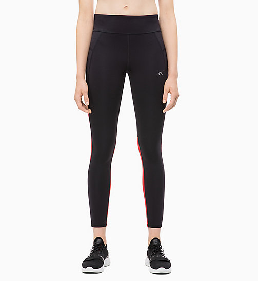 CALVIN KLEIN Cropped Sports Leggings - CK BLACK/SAMBA - CALVIN KLEIN NEW INS - main image