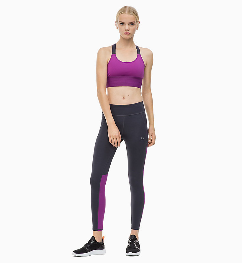 CALVIN KLEIN Cropped Sports Leggings - CK BLACK - CALVIN KLEIN PERFORMANCE - detail image 3