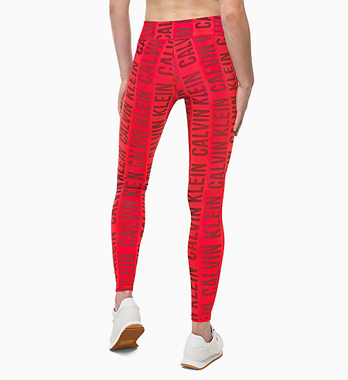 CALVINKLEIN Sports Leggings - BOLD CK_RACING RED - CALVIN KLEIN SPORT - detail image 1