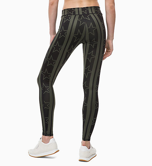 CALVINKLEIN Sport-Leggings - STARS STRIPE_FOREST NIGHT - CALVIN KLEIN Sport-Leggings - main image 1