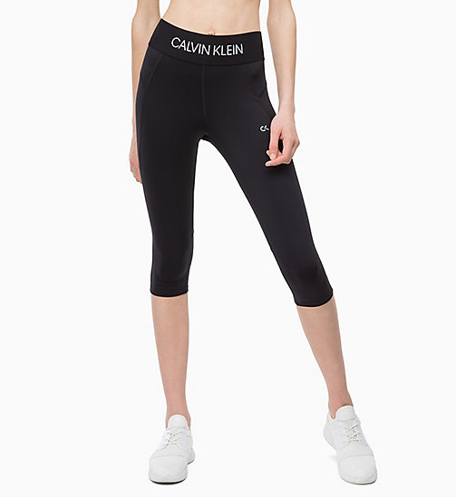 CALVINKLEIN Cropped Sports Leggings - CK BLACK - CALVIN KLEIN SPORTS LEGGINGS - main image