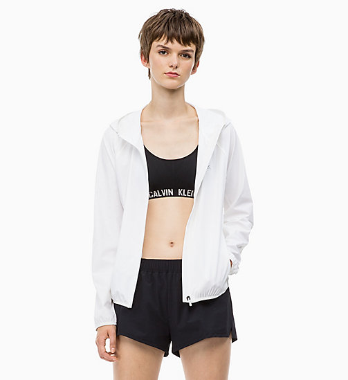 CALVINKLEIN Logo Windbreaker - BRIGHT WHITE - CALVIN KLEIN SPORTS JACKETS - main image