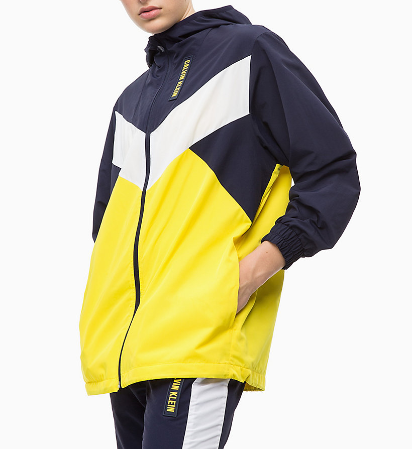 CALVIN KLEIN Trainingsjacke - GUNMETAL/BRIGHT WHITE/RACING RED - CALVIN KLEIN PERFORMANCE - main image 3