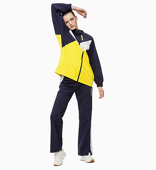 CALVIN KLEIN Tracksuit Jacket - EVENING BLUE/GOLDEN KIWI/BRIGHT WHITE - CALVIN KLEIN SPORT - detail image 1