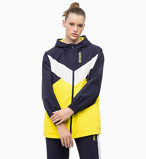 CALVIN KLEIN Tracksuit Jacket - EVENING BLUE/GOLDEN KIWI/BRIGHT WHITE - CALVIN KLEIN SPORT - main image