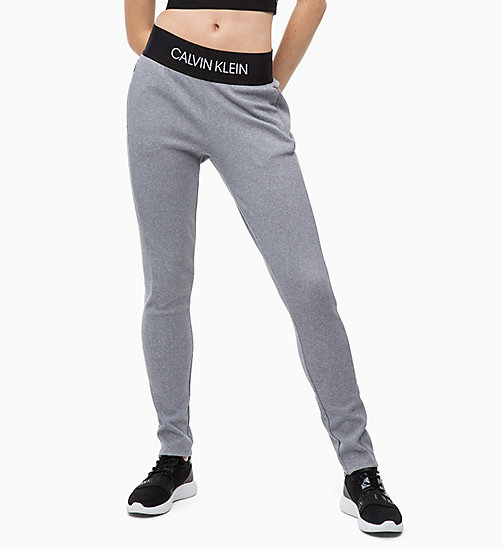 CALVINKLEIN Joggers - MEDIUM GREY HEATHER - CALVIN KLEIN SHORTS & TROUSERS - main image