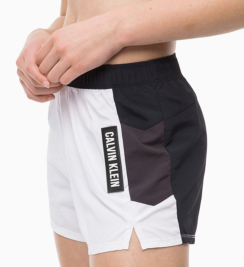CALVIN KLEIN Korte trainingsshorts - EVENING BLUE/GOLDEN KIWI/BRIGHT WHITE - CALVIN KLEIN PERFORMANCE - detail image 2