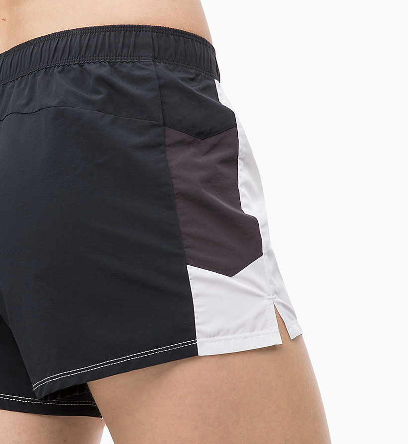 CALVIN KLEIN Korte trainingsshorts - EVENING BLUE/GOLDEN KIWI/BRIGHT WHITE - CALVIN KLEIN PERFORMANCE - detail image 3