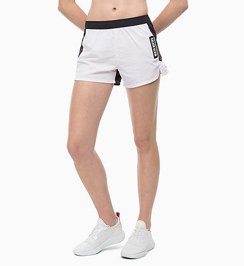 CALVIN KLEIN Sports Shorts - BRIGHT WHITE/CK BLACK/GUNMETAL - CALVIN KLEIN SPORT - main image