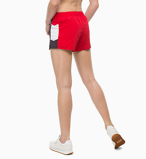 CALVINKLEIN Sports Shorts - GUNMETAL/BRIGHT WHITE/RACING RED - CALVIN KLEIN SPORT - detail image 1