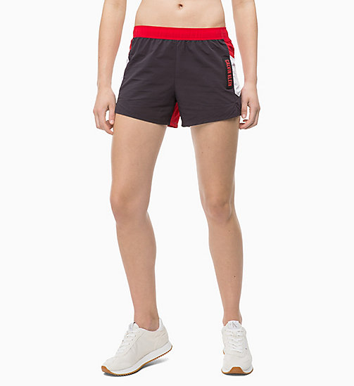 CALVIN KLEIN Korte trainingsshorts - GUNMETAL/BRIGHT WHITE/RACING RED - CALVIN KLEIN SPORT - main image
