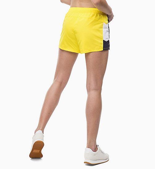 CALVIN KLEIN Sports Shorts - EVENING BLUE/GOLDEN KIWI/BRIGHT WHITE - CALVIN KLEIN SPORT - detail image 1