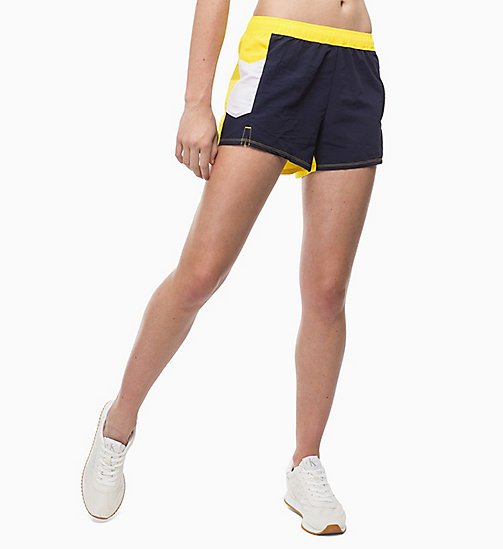 CALVINKLEIN Korte trainingsshorts - EVENING BLUE/GOLDEN KIWI/BRIGHT WHITE - CALVIN KLEIN SPORT - main image