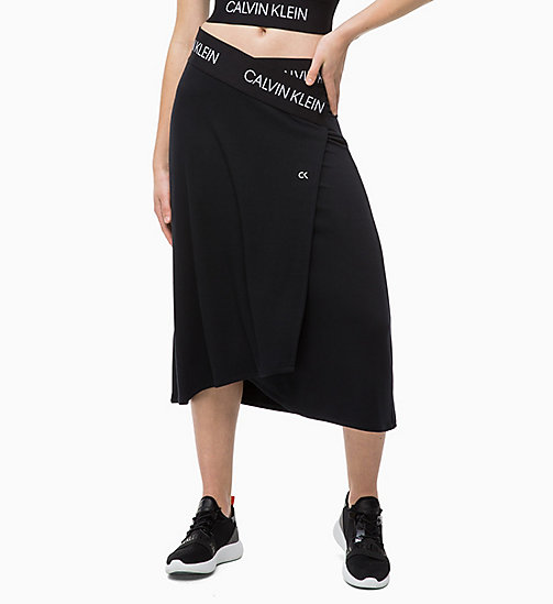 CALVINKLEIN Wrap Midi Skirt - CK BLACK - CALVIN KLEIN SHORTS & TROUSERS - main image