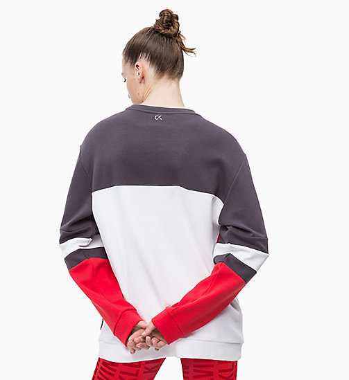 CALVINKLEIN Sweatshirt - GUNMETAL/BRIGHT WHITE/RACING RED - CALVIN KLEIN SPORT - detail image 1