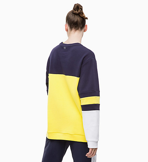 CALVINKLEIN Sweat-shirt - EVENING BLUE/GOLDEN KIWI/BRIGHT WHITE - CALVIN KLEIN SPORT - image détaillée 1