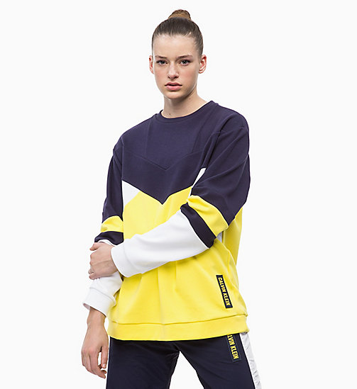 CALVIN KLEIN Sweatshirt - EVENING BLUE/GOLDEN KIWI/BRIGHT WHITE - CALVIN KLEIN SPORT - main image